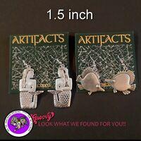 """JJ"" Jonette Jewelry Silver Shiny Pewter 'Mermaid and Fish Earrings' 2 pair"