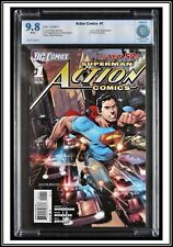 Action Comics #1 {CBCS 9.8 NM/MT} Rags Morales Cover SUPERMAN 2011 DC New 52 cgc