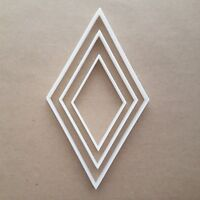 Rhombus Diamond Rhombi Shape Cookie Cutter Dough Biscuit Pastry Fondant Sharp