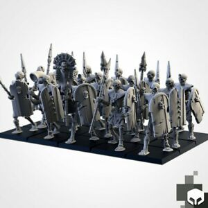 Armies of the Sand : Sand Skeleton Formation Tomb Royal Proxy 3D Resin Printed