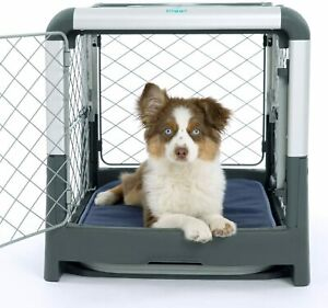 Diggs Revol Dog Crate -Collapsible, Portable and Travel Kennel, S size