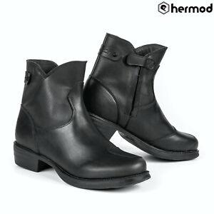 Stylmartin Pearl J Ladies Urban Waterproof Motorcycle Motorbike Boots - Black