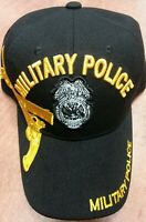 MILITARY POLICE US ARMY BADGE BLACK CAP HAT ADJUSTABLE BACK NEW