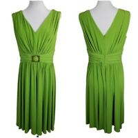 Suzi Chin for Maggy Boutique Size 12 Fit & Flare Dress Green Sleeveless