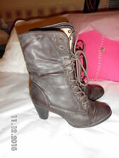 New Look Block Patternless Suede Boots for Women