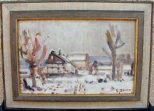 Erik Jean 1894-1970, Paysage hivernal avec Ferme, À 1950