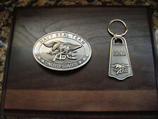 U.S. NAVY SEAL TEAM -The Only Easy Day Was Yesterday- Belt Buckle- Keyring Combo