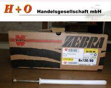 Dübel Nageldübel 8x120/80 Schlagdübel  Würth  Kunststoff   Baugewerbe 100 Stück