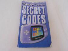 GAMEBOY ADVANCE CODICI SEGRETI libretto/manuale