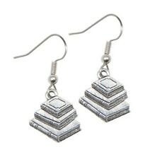 NEW Book Earrings Silver Pewter charms teacher gift stack USA-made lead-free