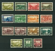 Yugoslavia 1918 Bosnia-Herzegovina stamps overprinted. Mint. Sg 1-15.
