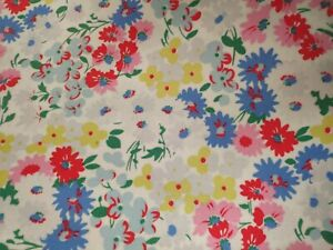 'Vintage Cath Kidston Floral Oilcloth Fabric 1.5m x 1.4m  tablecloths, crafts