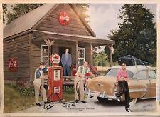 Scotty Moore Dj Fontana Ronnie Mcdowell Signed 18X24 Color Print Rare Elvis