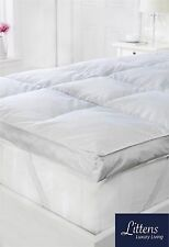 "3"" Single Bed Size Goose Feather & Down Mattress Topper, 15% Down, 100% Cotton"