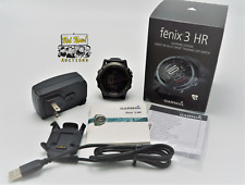 Garmin Fenix 3 HR Sapphire Watch Slate Gray Stainless GPS Multi Sport Heart Rate