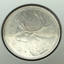 1991 Canada 25 Cents Quarter Canadian Uncirculated Coin B968