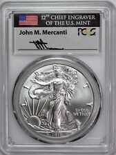 2018 (W) Silver Eagle Struck at West Point PCGS MS70 First Day of Issue Mercanti