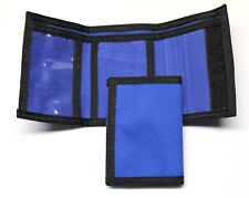 Nylon Trifold Credit Card Wallet with ID window - Royal Blue