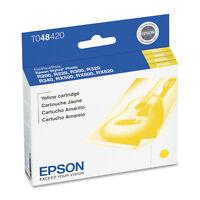 Genuine Epson T0484 T048420 C13T048420 yellow ink 48 R200 R300 RX340 RX600 RX500
