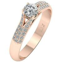 SI1 G Solitaire Engagement Real Diamond Ring 1.00 Ct 14K White Yellow Rose Gold