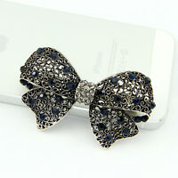 Black Vintage Flower Rhinestone Women Hairpin Accessories Hair Clip