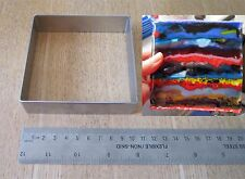 "Stainless Steel Casting Square Kiln Mold Glass Fusing ~ 4"" Diameter - Mould"