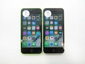 Lot of 2 Apple iPhone 5c A1532 8GB Unlocked Check IMEI Poor Condition 6-1492