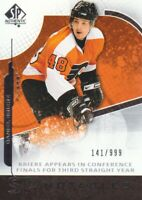 2008-09 SP Authentic Hockey #109 Daniel Briere /999 Philadelphia Flyers