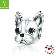 European Women 925 Sterling Silver Lovely Dog Charms Pendant Fits Bracelet Chain
