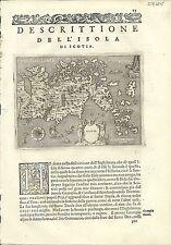 Antique maps, scotia [Porcacchi, 1576]