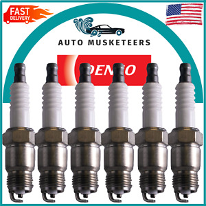 Set of 6 Gap 0.044 Spark Plugs Denso For Buick Chevy Ford GMC Pontiac Oldsmobile