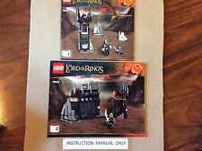 New Lego Instruction Manual ONLY for Lord of the Rings The Black Gate Set 79007