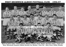 WEST BROMWICH ALBION F.C.TEAM PRINT 1956-57 (ROBSON/SUMMERS/BROOKES)