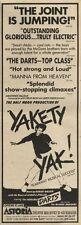 8/1/83PN25 ADVERT: THE HALF MOON PRODUCTION 0F YAKETY YAK! 15X5