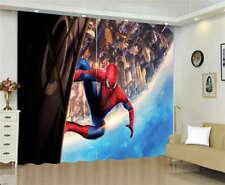 Climbing Walls Building Spider Man Printing 3D Blockout Curtains Fabric Window