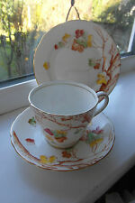 Adderley Lawley Tea Cup & Saucer & Plate Trio Bone China Vintage British
