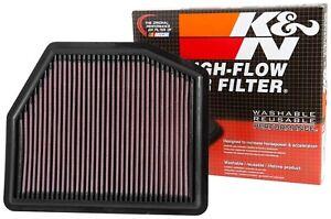 K&N 33-5036 Hi-Flow Drop in Air Filter for 2014-2015 Pathfinder / QX60 Hybrid