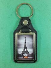 CITROËN 2cv Orange Devant la tour Eiffel  , Porte Clés Luxe Rectangulaire.