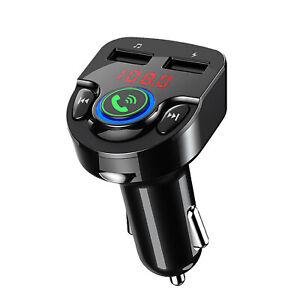 FM Transmitter Auto Bluetooth KFZ Radio Adapter QC3.0 Dual USB Ladegerät LCD Car