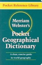 New Merriam-Webster's Pocket Geographical Dictionary World Guide by Inc. Staff