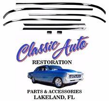 62-65 Nova Rear Back Window Glass Chrome Reveal Molding Trim M1650C