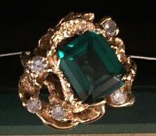 Gorgeous Ladies 14k Gold Chatham & Diamond ring Make an offer