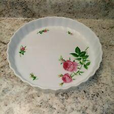 Christineholm Rose Quiche Pie Pan Tart Bakeware Stoneware Baking Dish Floral