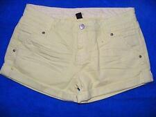 SPORTSGIRL Shorts. Flattering Lemon/Lime Colour  Zip Trim. Size 12. STRETCH New