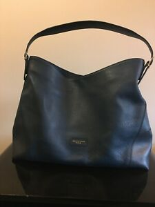 Authentic Aspinal of London Navy Leather Hobo Bag - used twice