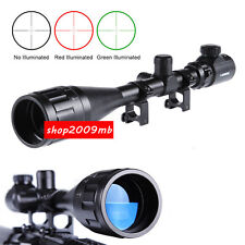 Hunting 6-24x50 AOEG Optical Rifle Scope Red Green Dual illuminated Gun Scope