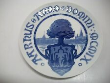 "Bing And Grondahl Plate 1909 Aarhus City Seal In Root Of Tree 8""Dia. Cm#36"