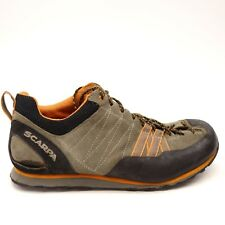 Scarpa Mens Orange Crux Approach Leather Athletic Hiking Trail Shoes Size 9.5