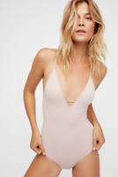 NEW Free People Intimately Move Along Bodysuit In Ballet Sz XS/S & M/L $47.54