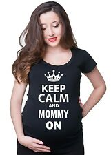 Keep Calm and Mommy On Pregnancy T-shirt maternity Tee Shirt Future mommy Mom